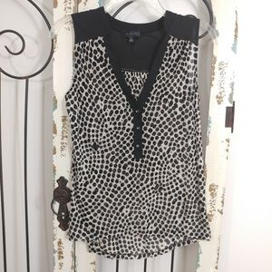 The Limited sheer sleeveless blouse size XS